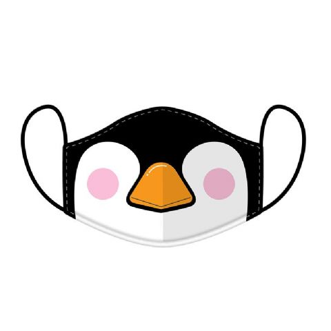 Penguin Reusable Adult Face Covering Washable 2 Layer Soft Mask